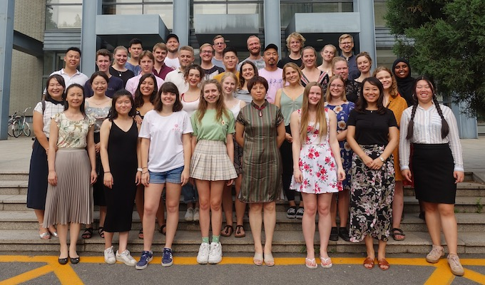 Group picture of all students, summer semester 2019